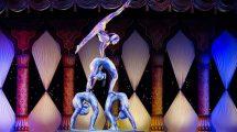 acrobaten im zirkus